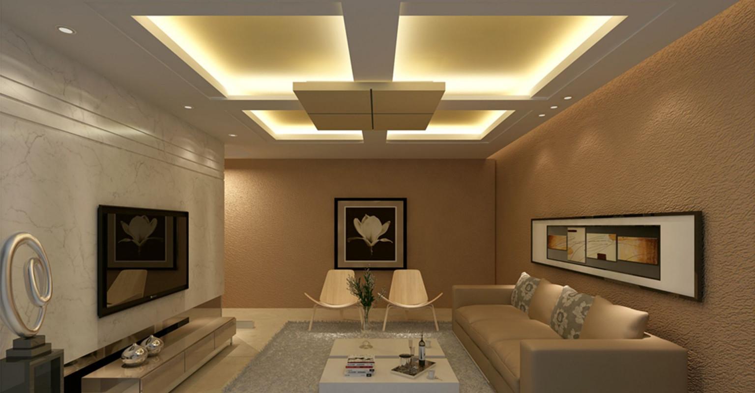 Moderne Wohnzimmer Decke Design Ideen Badezimmer von Moderne Deckengestaltung Wohnzimmer Bild