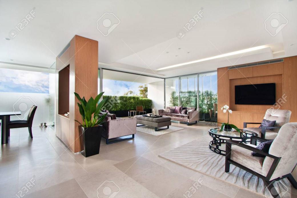 Moderne Wohnzimmer Geräumige Große Zimmer von Große Wohnzimmer Bilder Bild