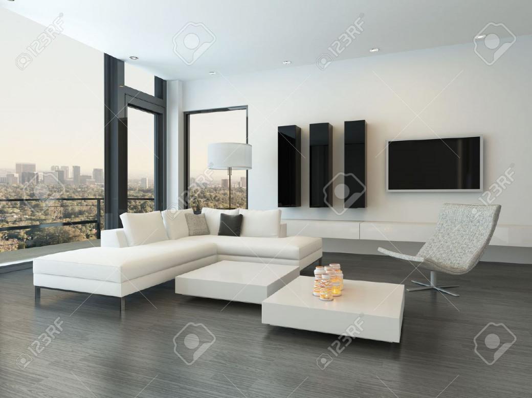 Moderne Wohnzimmer Innenraum Mit Designmöbeln von Moderne Bilder Für Wohnzimmer Bild
