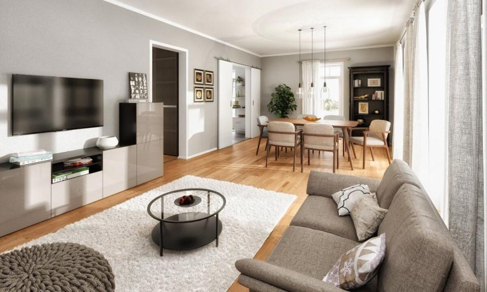 Modernes Wohnzimmer Farben Grau Weiß Holz  Ideen von Inneneinrichtung Ideen Wohnzimmer Photo