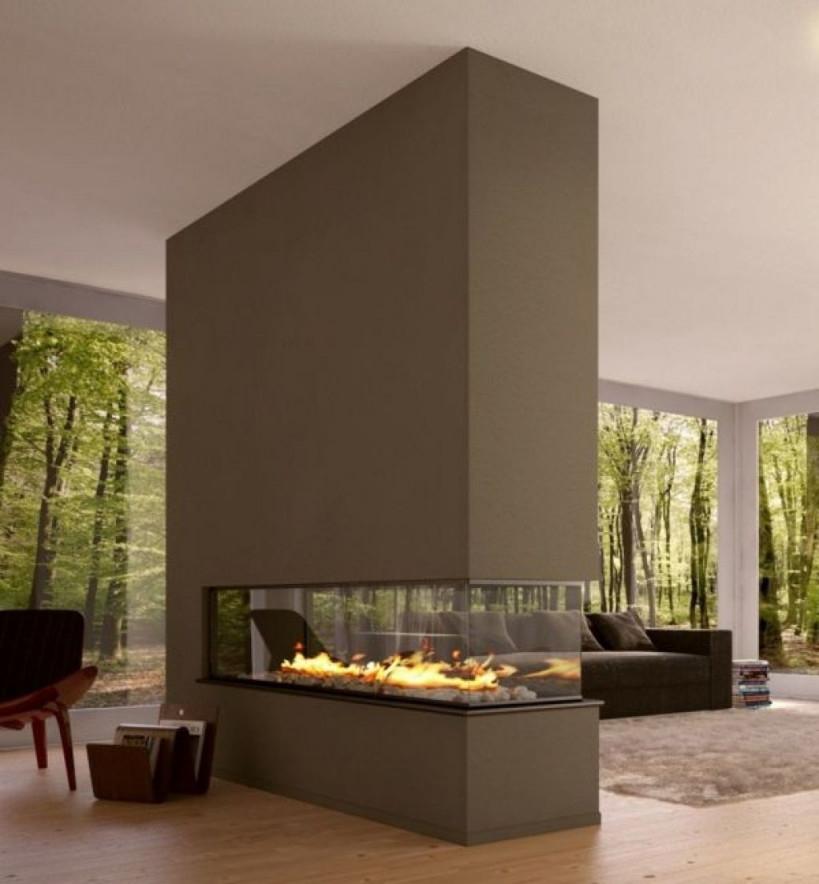 Modernes Wohnzimmer Mit Luxus Trennwand Kamin Sehr Schick 42 von Moderne Trennwände Wohnzimmer Bild