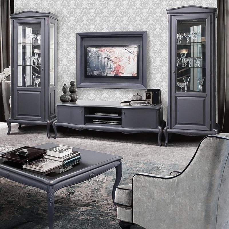 Mokko Exklusive Designwohnzimmermöbel Im Modernen Barockstil Grau Mit  Bordeaux Touch von Wohnzimmer Landhausstil Bilder Photo