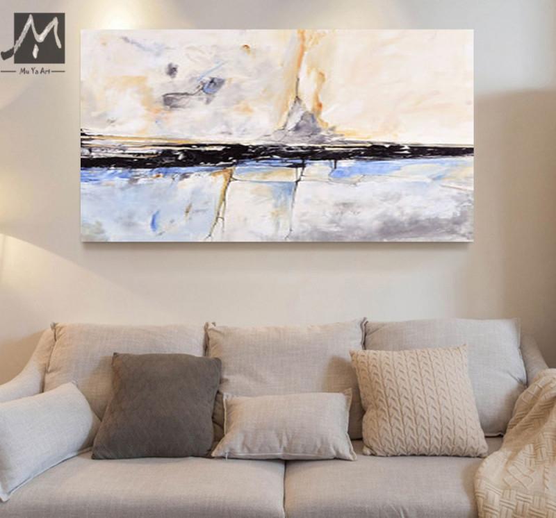 Muya Abstrakte Malerei Acryl Malerei Abstrakte Gemälde von Bilder Gemälde Für Wohnzimmer Photo