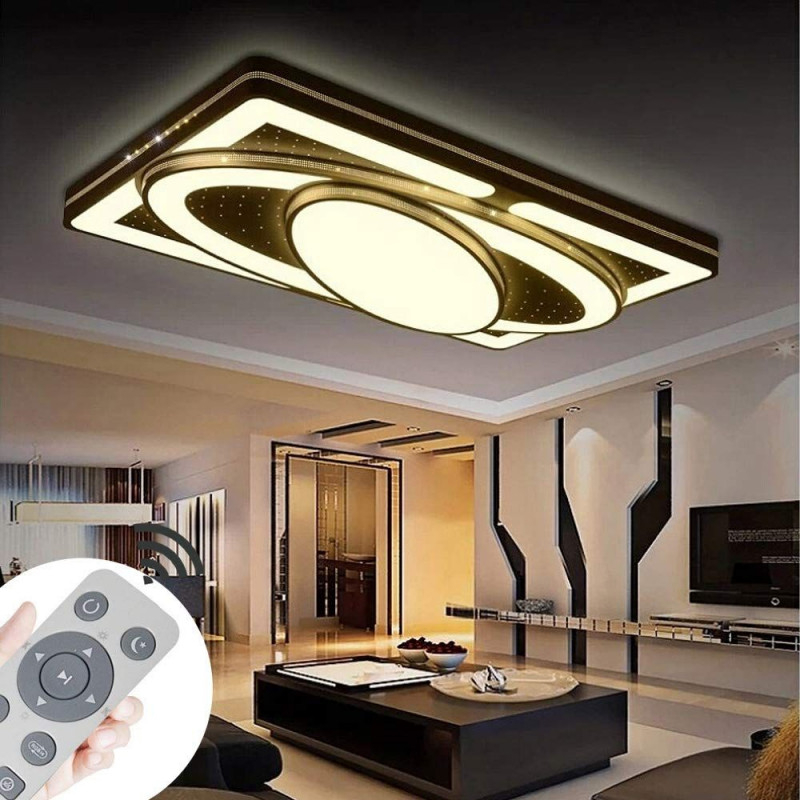 Myhoo 78W Design Led Deckenlampe Dimmbar Mit von Deckenlampe Wohnzimmer Dimmbar Bild