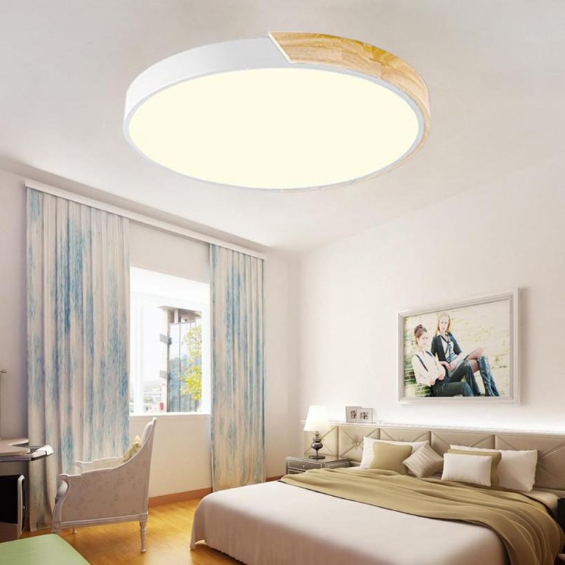 Natsen 36W Led Deckenleuchte Runde Deckenlampe Dimmbar Mit Fernbedienung  Led Flurlampe von Deckenlampe Wohnzimmer Holz Bild
