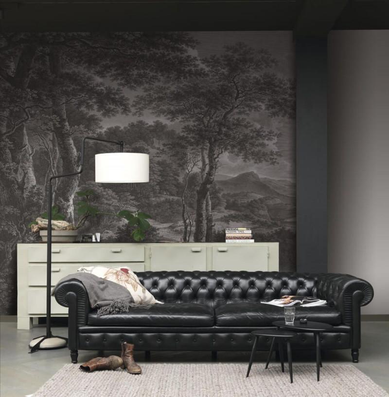 Naturmotive Wald Bäume Wandbild Wohnzimmer Schwarz Weiß In von Bilder Motive Wohnzimmer Photo