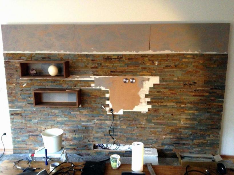 Naturstein Wandverkleidung Wohnzimmer Schön Steine von Wandverkleidung Wohnzimmer Ideen Bild