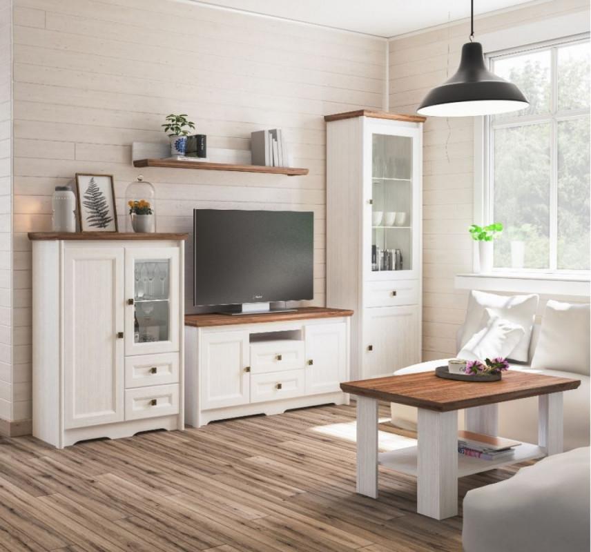 Neman Wohnzimmer 4Teilig Tivoli Landhausstil Weiß von Bilder Wohnzimmer Landhausstil Photo