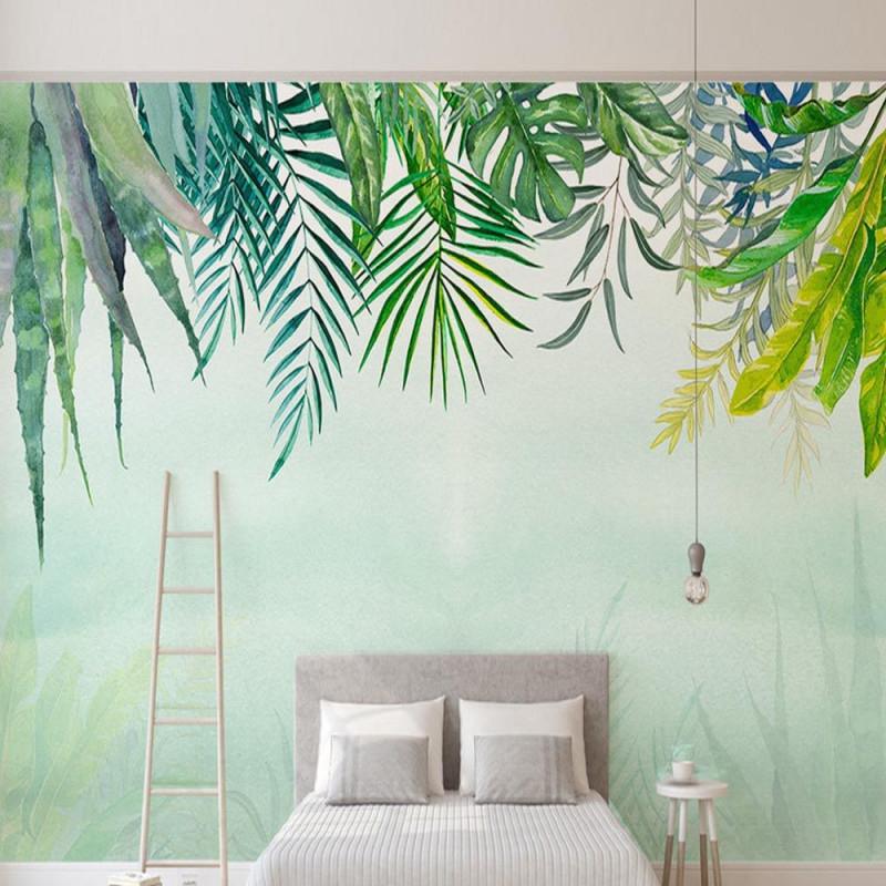 Nordeuropäischen Grüne Blätter Bunte Kakteen Tapete Wandbild von Bunte Tapeten Wohnzimmer Bild