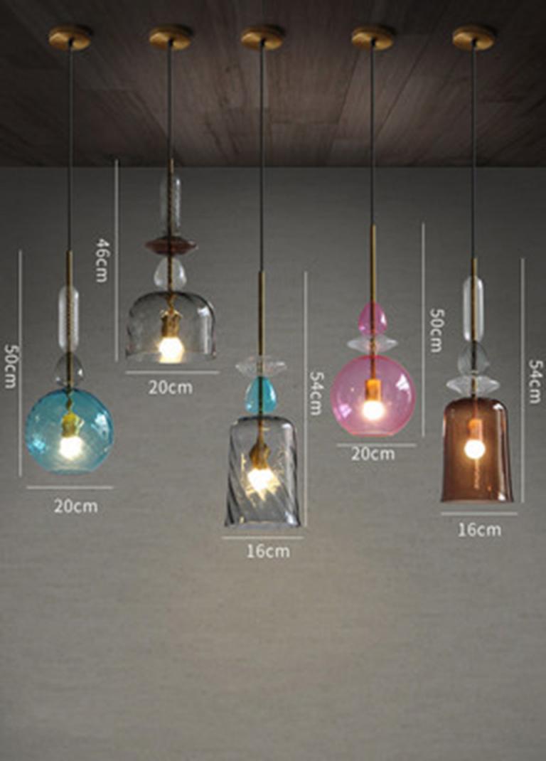 Nordic Led Glas Bunte Süßigkeiten Anhänger Lichter von Wohnzimmer Lampe Glas Bild