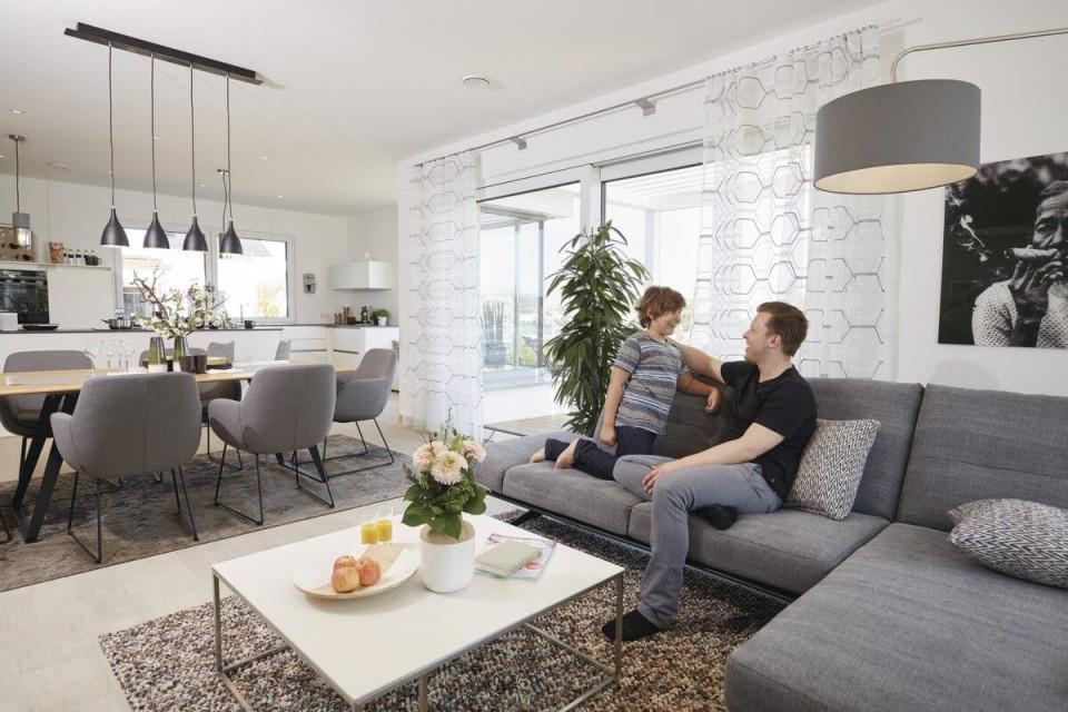 Offenes Wohnzimmer Mit Esszimmer  Küche  Wohnideen von Offenes Wohnzimmer Gestalten Bild