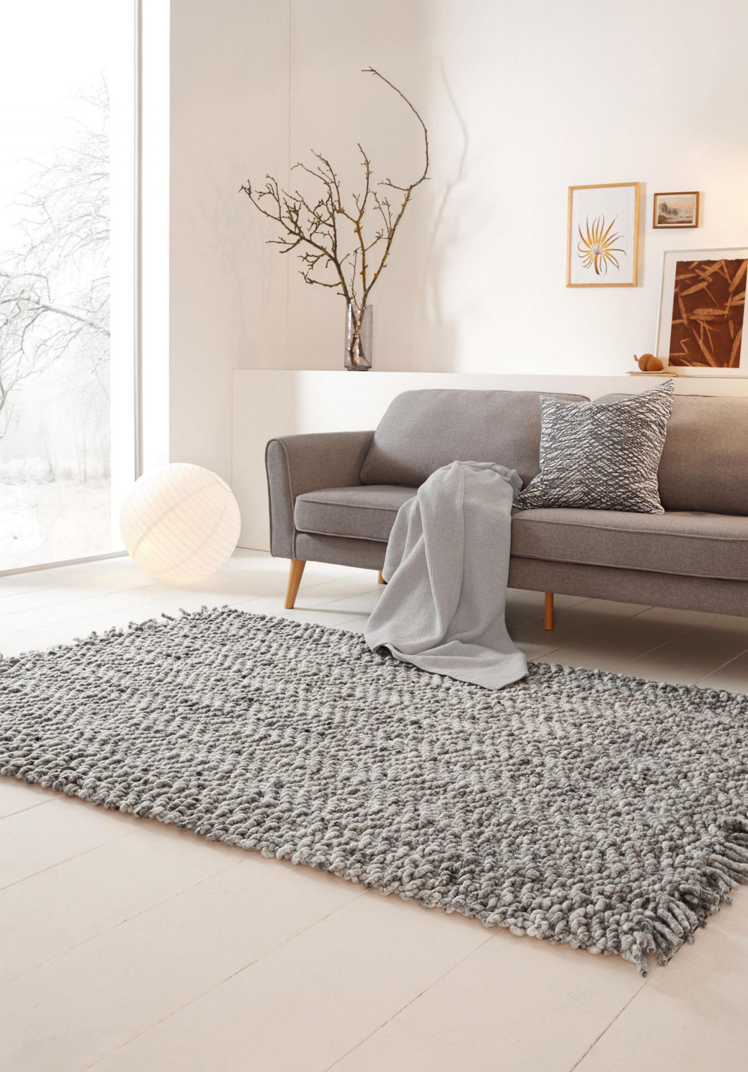 Ökologische Wohnzimmer Teppiche Wolle  Bio✓  Nachhaltig von Teppich Groß Wohnzimmer Bild