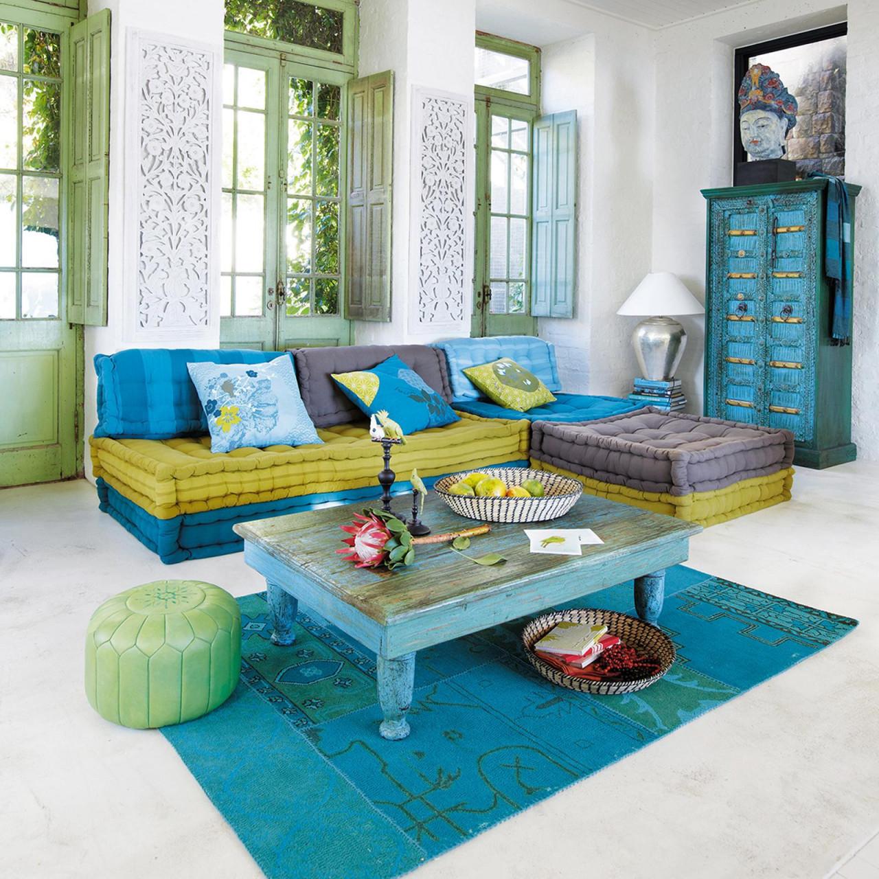 Orientalische Einrichtung Im Wohnzimmer Couchtisch von Wohnzimmer Orientalisch Einrichten Bild