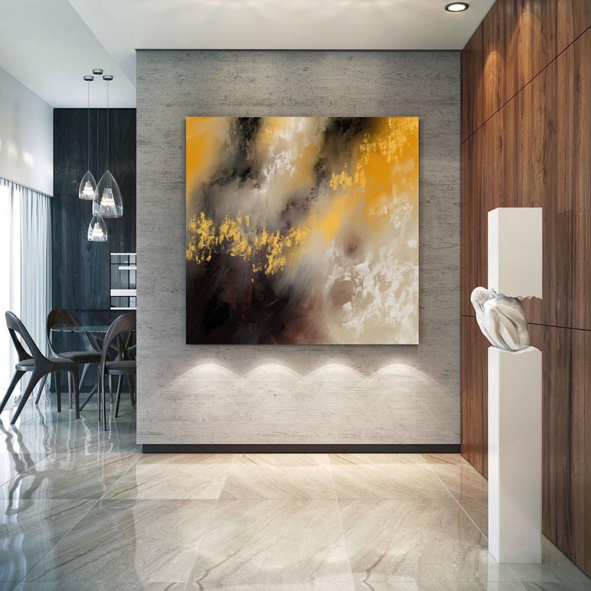 Originalgemälde Auf Leinwand  Abstrakte Kunst Extra Große von Bilder Wohnzimmer Abstrakte Kunst Photo