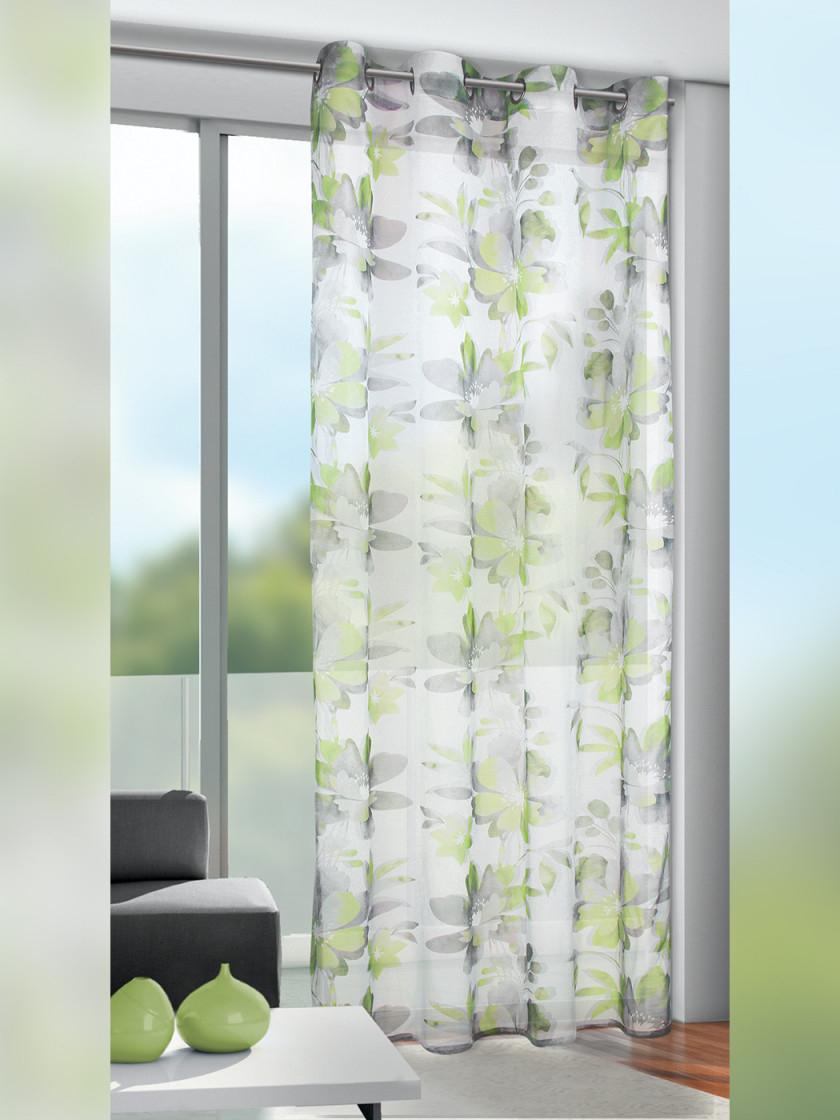 Ösenschal Flora  Grün von Gardinen Wohnzimmer Grün Bild