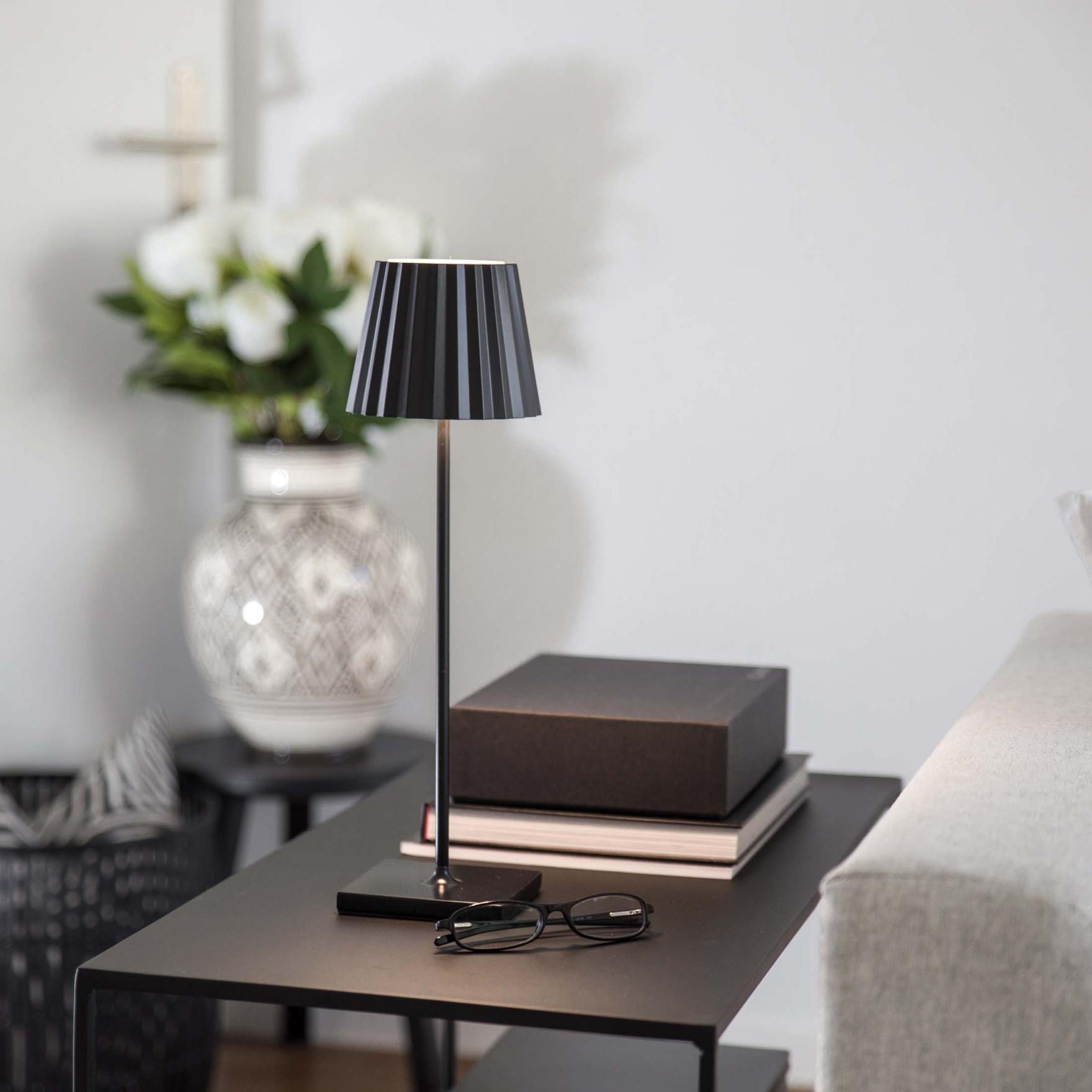 """Outdoor Lampe Ohne Kabel """"black"""" von Akku Lampe Wohnzimmer Bild"""