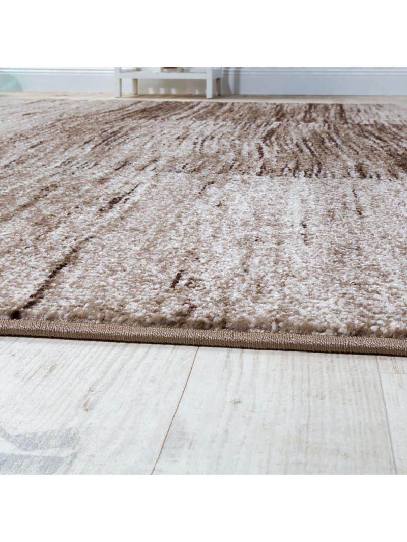 Paco Home Designer Teppich Modern Wohnzimmer Teppiche Kurzflor Karo Meliert  Braun Beige  Klingel von Wohnzimmer Teppich Braun Beige Photo