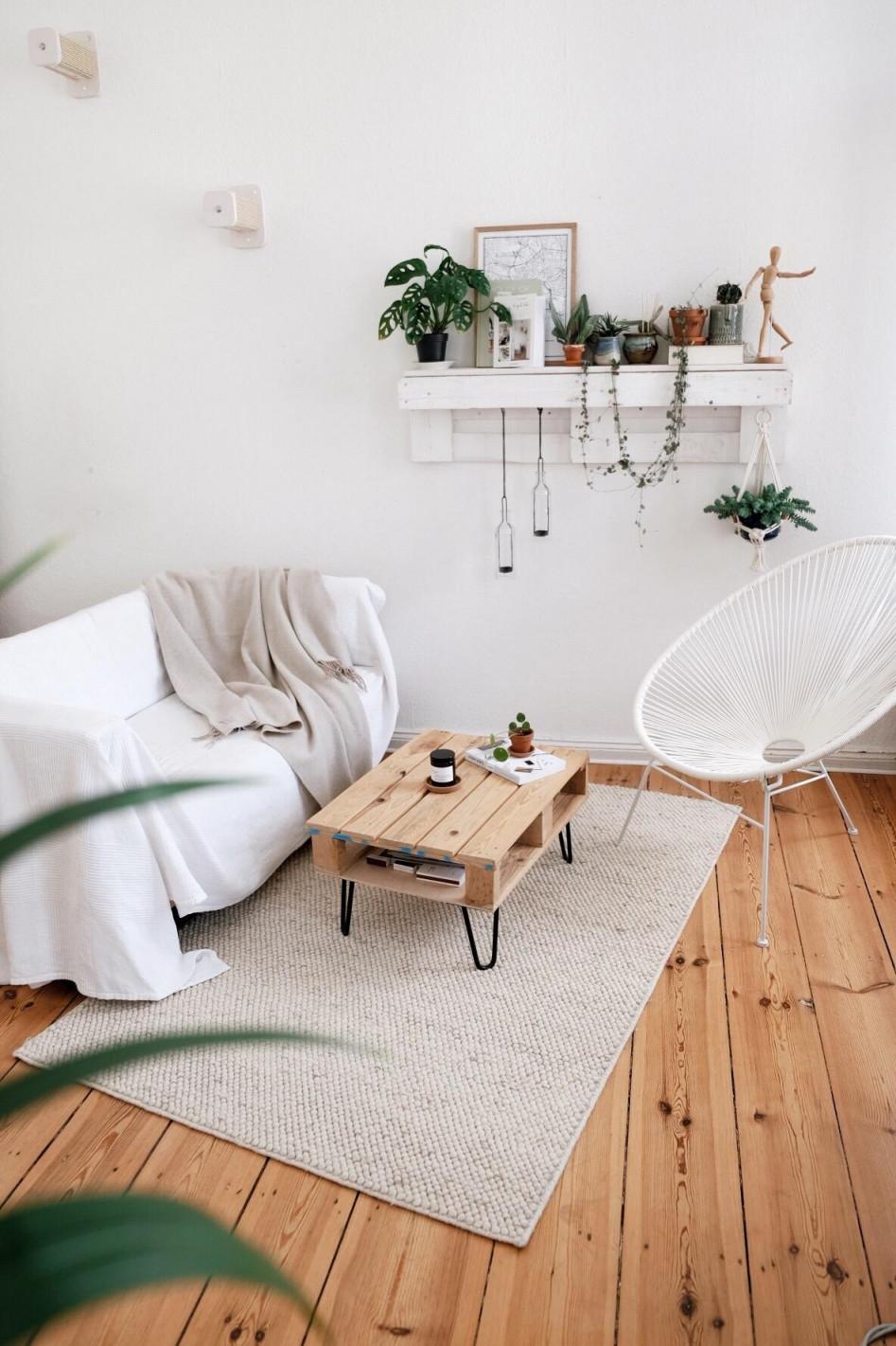 Palettenregal • Bilder  Ideen • Couch von Deko Für Regal Im Wohnzimmer Bild