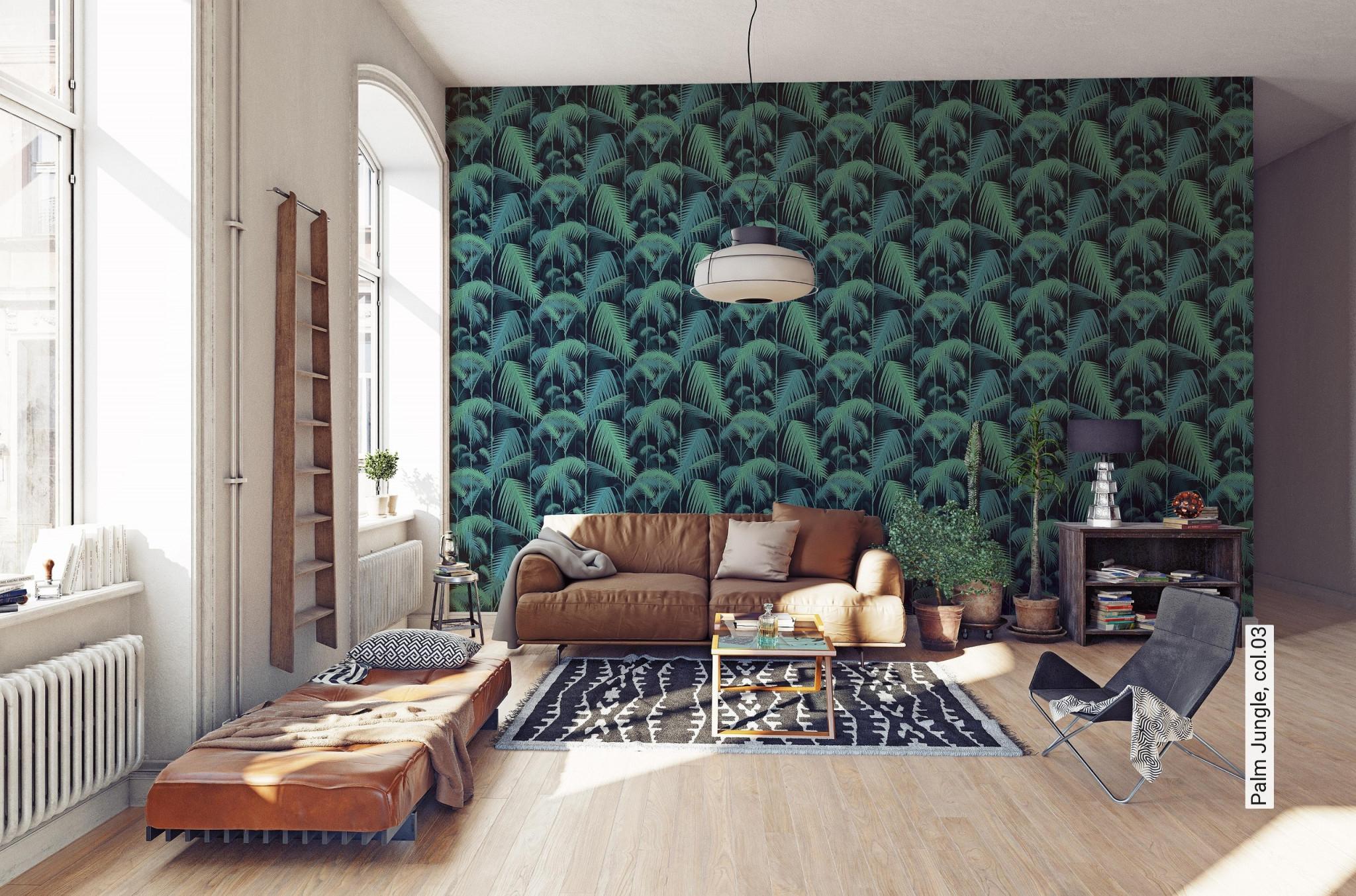 Palm Jungle Col03 von Tapeten Wohnzimmer Vintage Photo