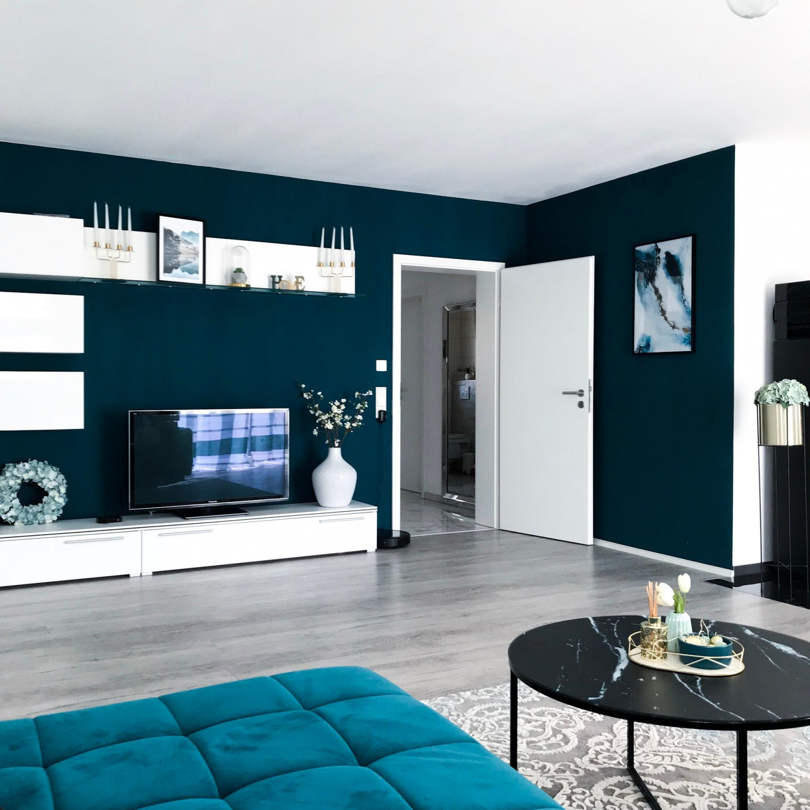 Petrol • Bilder  Ideen • Couch von Wohnzimmer Ideen Petrol Bild