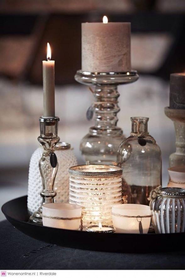 Pin Von Наталья Auf Licht Und Feuer  Couchtische Dekorieren von Kerzen Deko Wohnzimmer Photo
