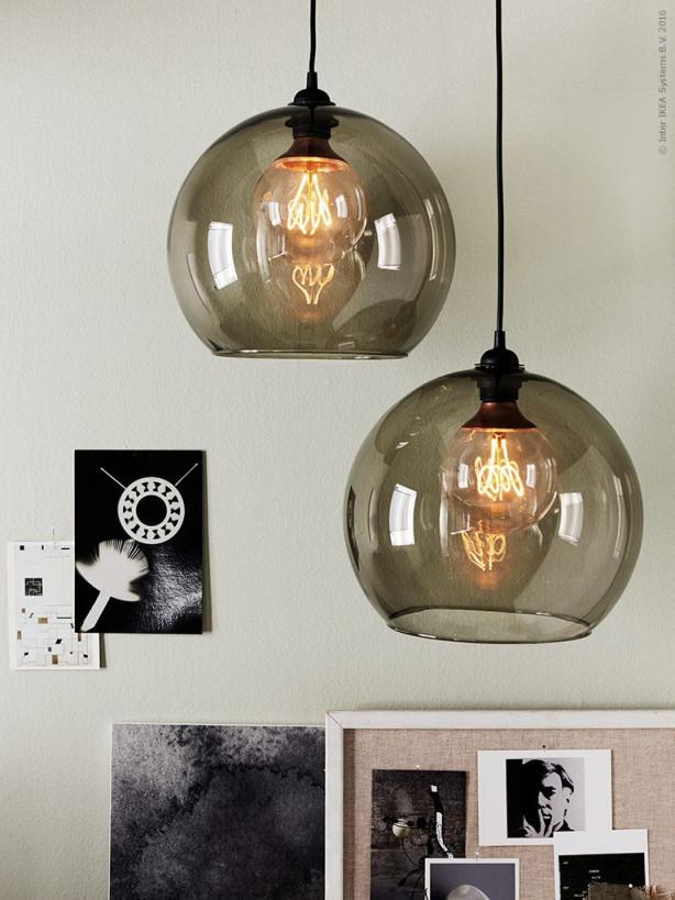 Pin Von Kristina Harbo Auf Ikea  Ikea Beleuchtung Lampen von Wohnzimmer Lampe Glas Bild