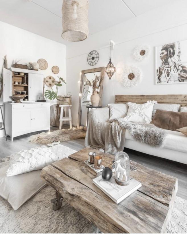 Popular Instagram Homes Worth The Follow  Boho Chic von Wohnzimmer Ideen Boho Bild