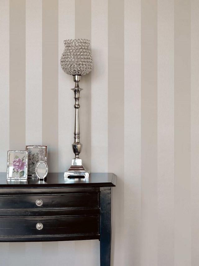 Rasch Textil Bistro Tapete Vlies Block Streifen Champagner von Streifen Tapeten Wohnzimmer Bild