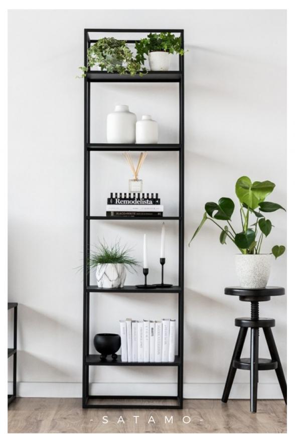Regal Simplex Aus Stahl Jetzt Online Entdecken  Satamo von Deko Für Regal Im Wohnzimmer Bild