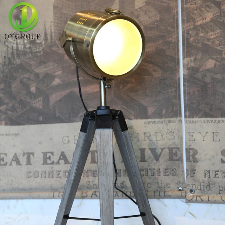 Retro Holz Stativ Tisch Lampe Scheinwerfer Lampen Fotografie von Scheinwerfer Lampe Wohnzimmer Bild