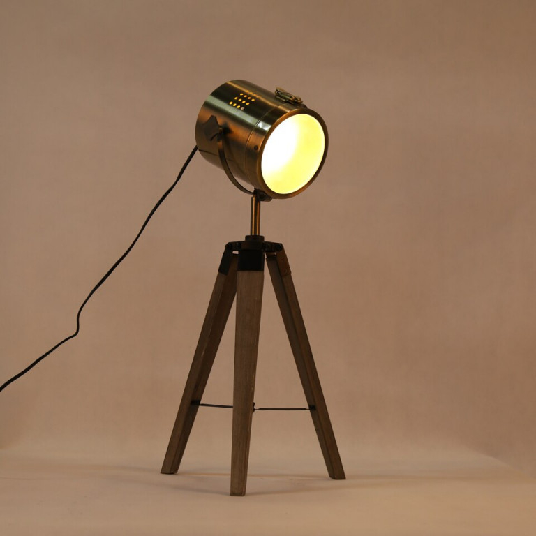 Retro Holz Stativ Tischlampe Modernen Scheinwerfer Lampe von Scheinwerfer Lampe Wohnzimmer Bild