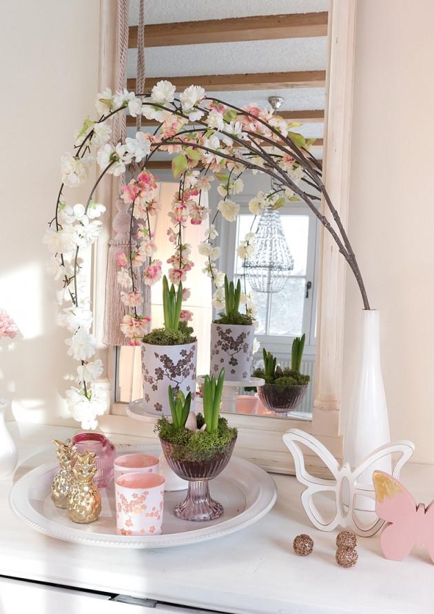 Romantische Frühlingsdeko Gestalten So Geht's  Schön Bei von Deko Frühling Wohnzimmer Bild