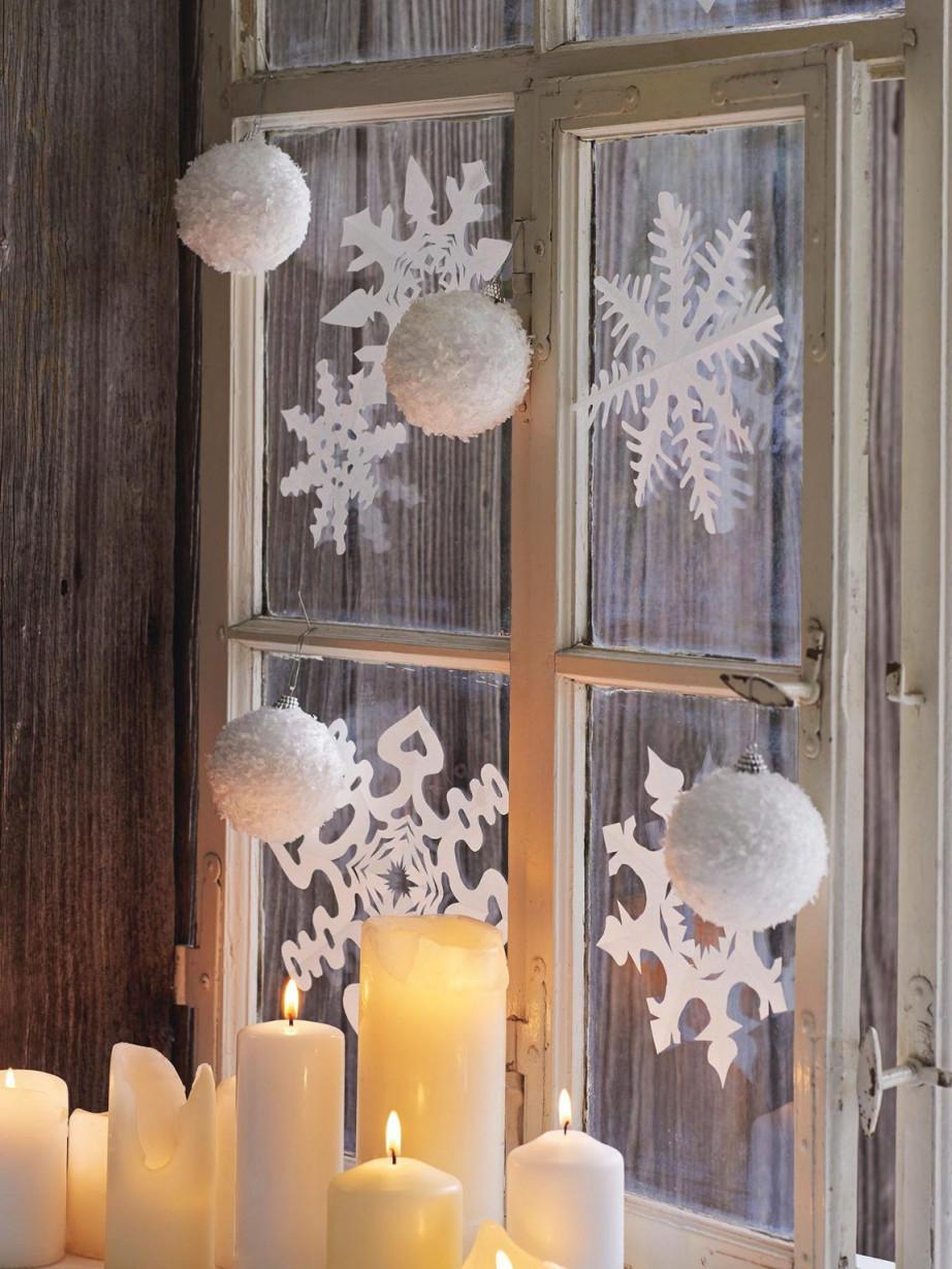 Roombeez  Ideen Für Weihnachtliche Fensterdeko von Hänge Deko Wohnzimmer Bild