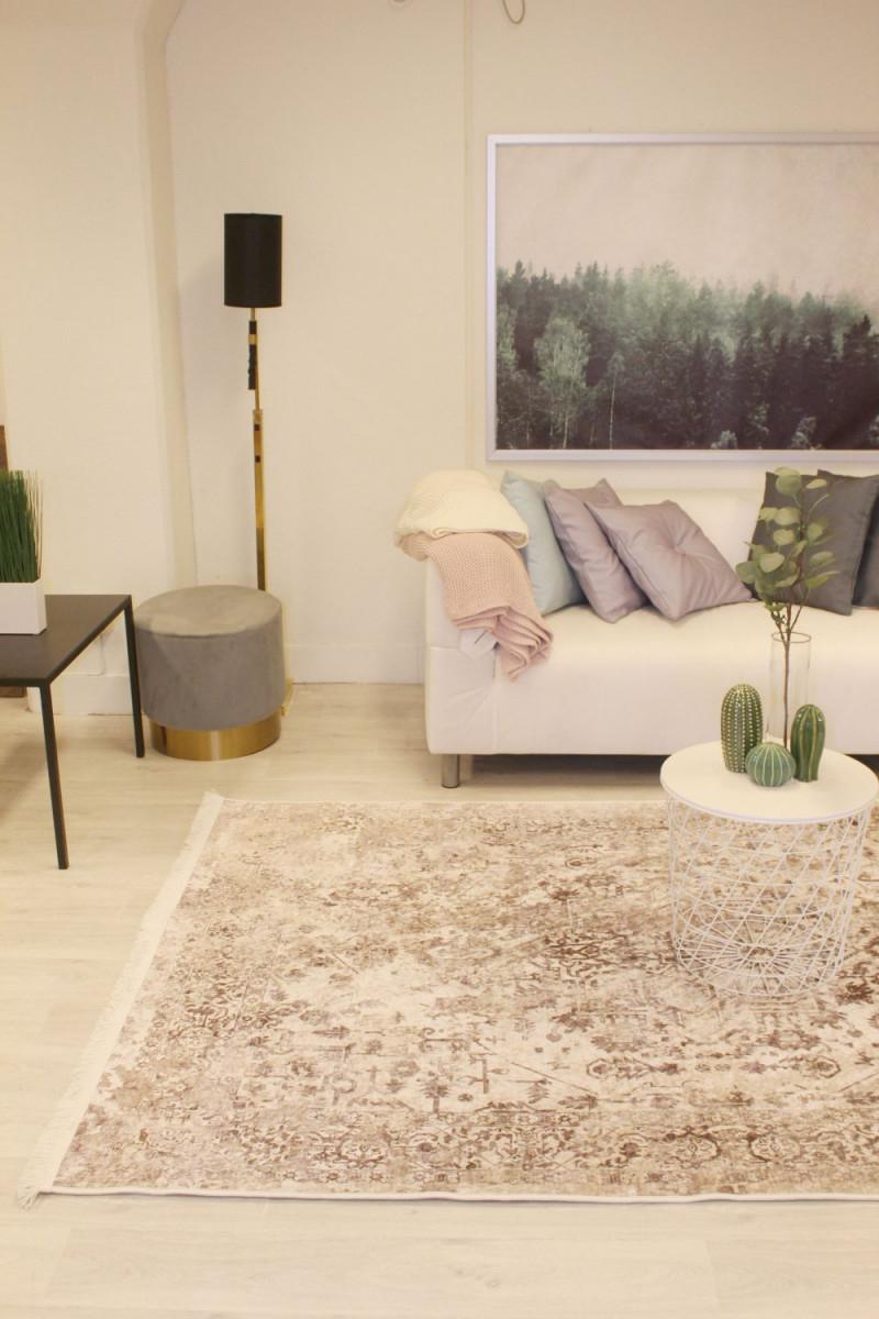 Rund Teppich  Mateur (Beige) von Wohnzimmer Teppich Rund Bild