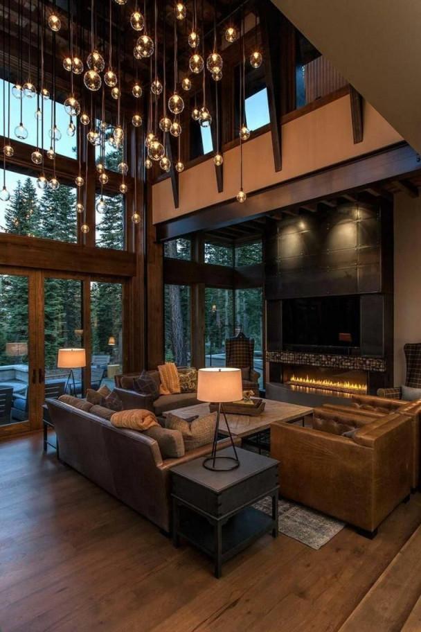 Rustikale Wohnzimmer  Eine Gemütliche Rustikale Einrichtung von Rustikale Moderne Wohnzimmer Photo