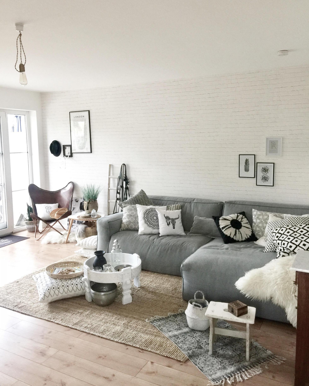 Scandi Boho • Bilder  Ideen • Couch von Wohnzimmer Ideen Boho Photo