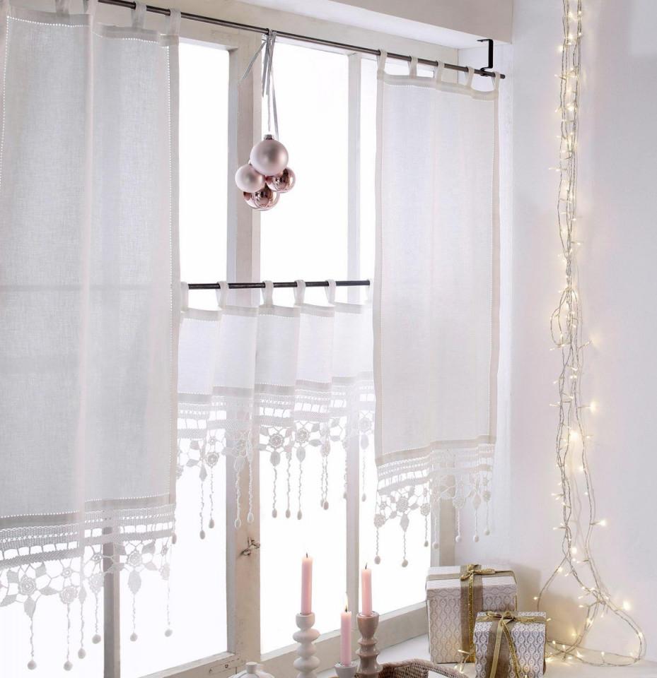 Scheibengardine Großglockner Hossner  Art Of Home Deco von Gardinen Wohnzimmer Mit Schlaufen Photo