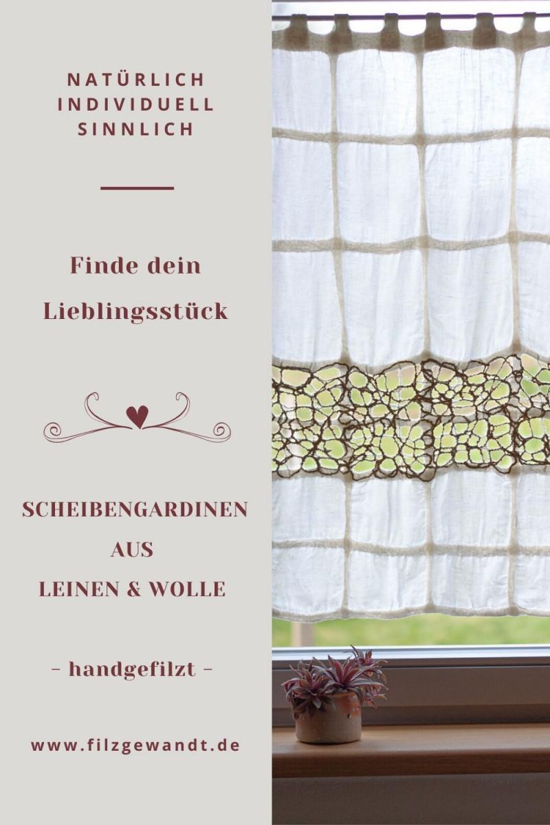 Scheibengardine Ideen Aus Leinen Wolle In 2020  Gardinen von Fertige Gardinen Für Wohnzimmer Photo