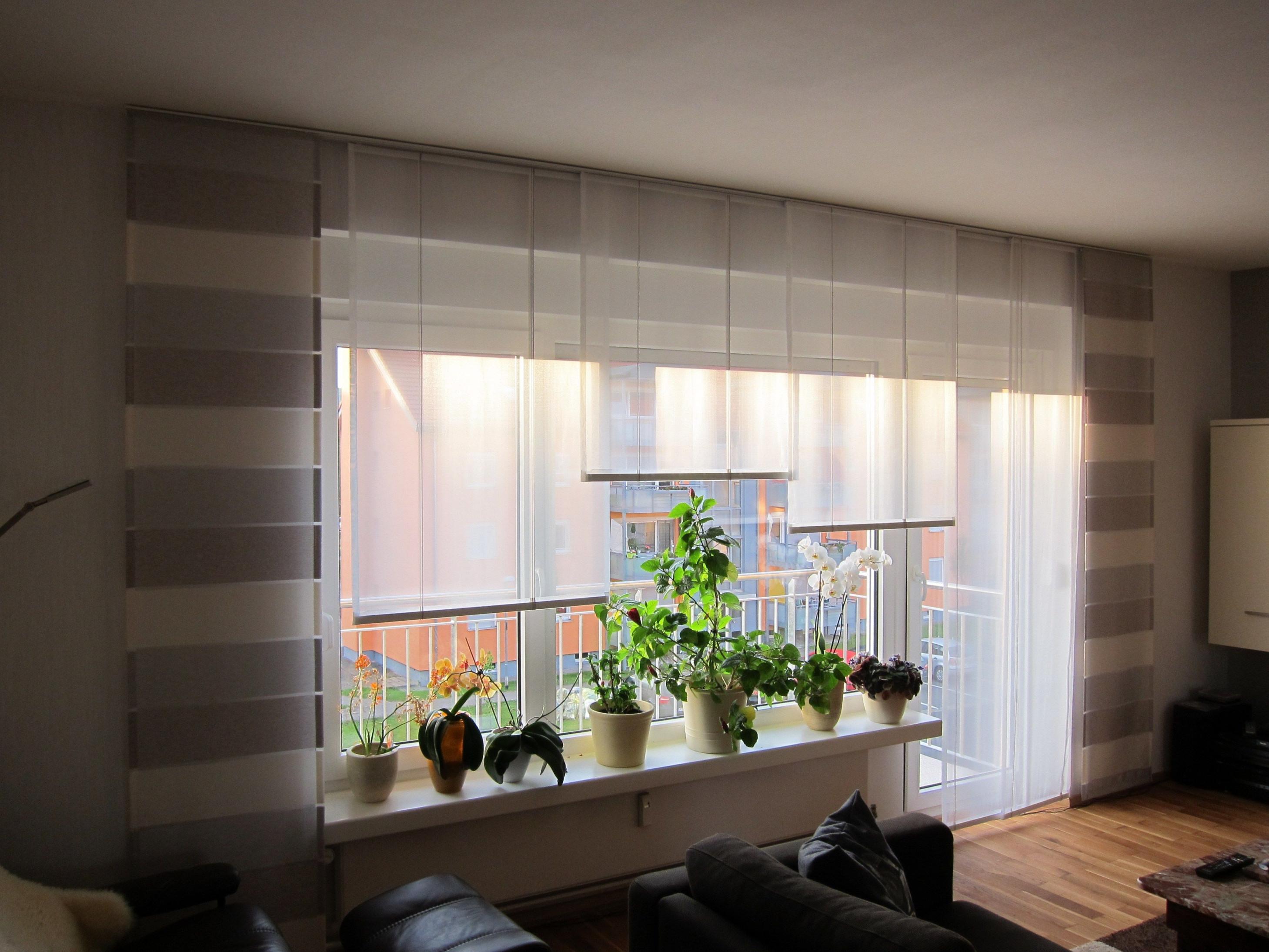 Schiebegardinen Kurz Set  Gardinen Wohnzimmer Vorhänge von Gardinen Kurz Wohnzimmer Photo