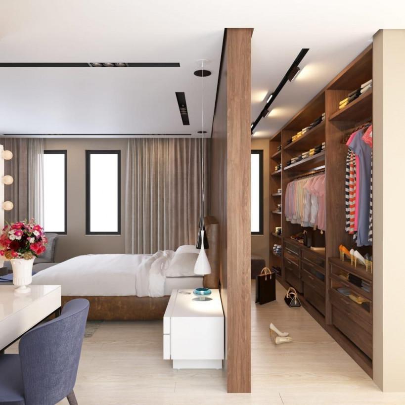 Schlafzimmer Mit Ankleide Projekte Fotos Und Pläne  Neu von Ideen Wohnzimmer Und Schlafzimmer In Einem Photo