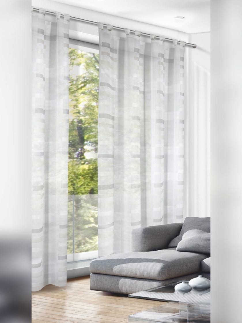 Schlaufenschal Naturfarben 280Cm von Gardinen Weiß Wohnzimmer Bild