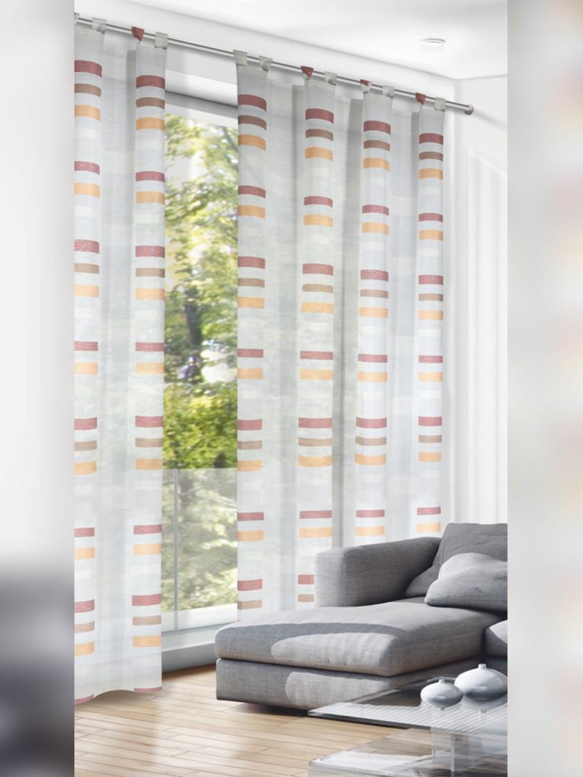 Schlaufenschal Orangerot 280Cm von Wohnzimmer Gardinen Schwarz Weiß Photo