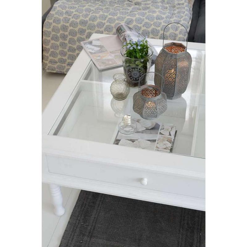 Schön Couchtisch Mit Deko Schublade Und Glasplatte von Deko Für Tisch Wohnzimmer Bild