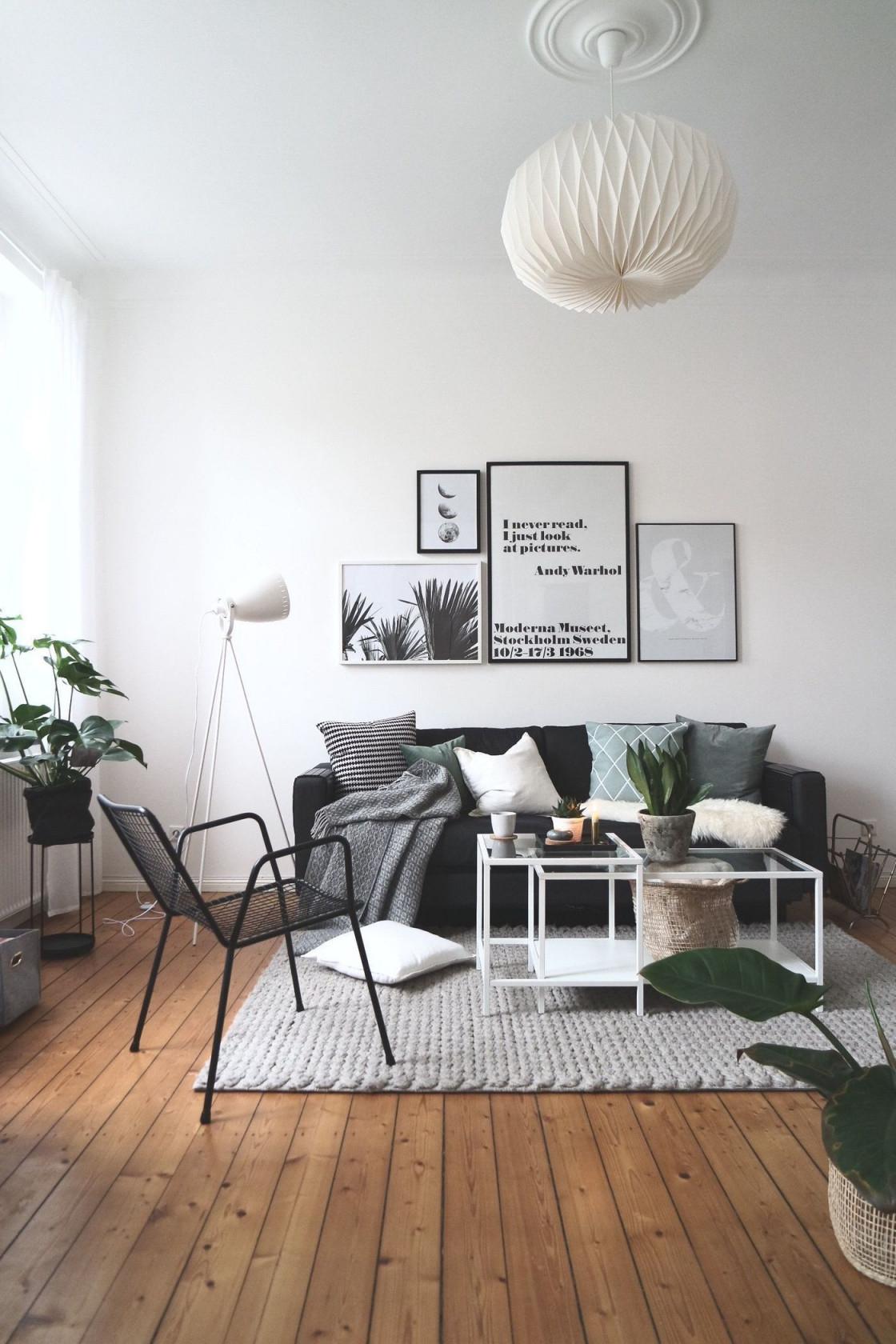 schwarz weiß dekorieren und einrichten von wohnzimmer
