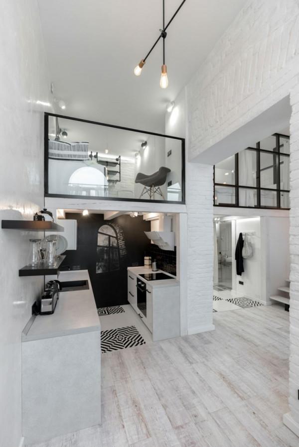 Schwarz Weiß Einrichten Am Beispiel Einer Zeitgenössischen von Wohnzimmer Schwarz Weiß Einrichten Bild