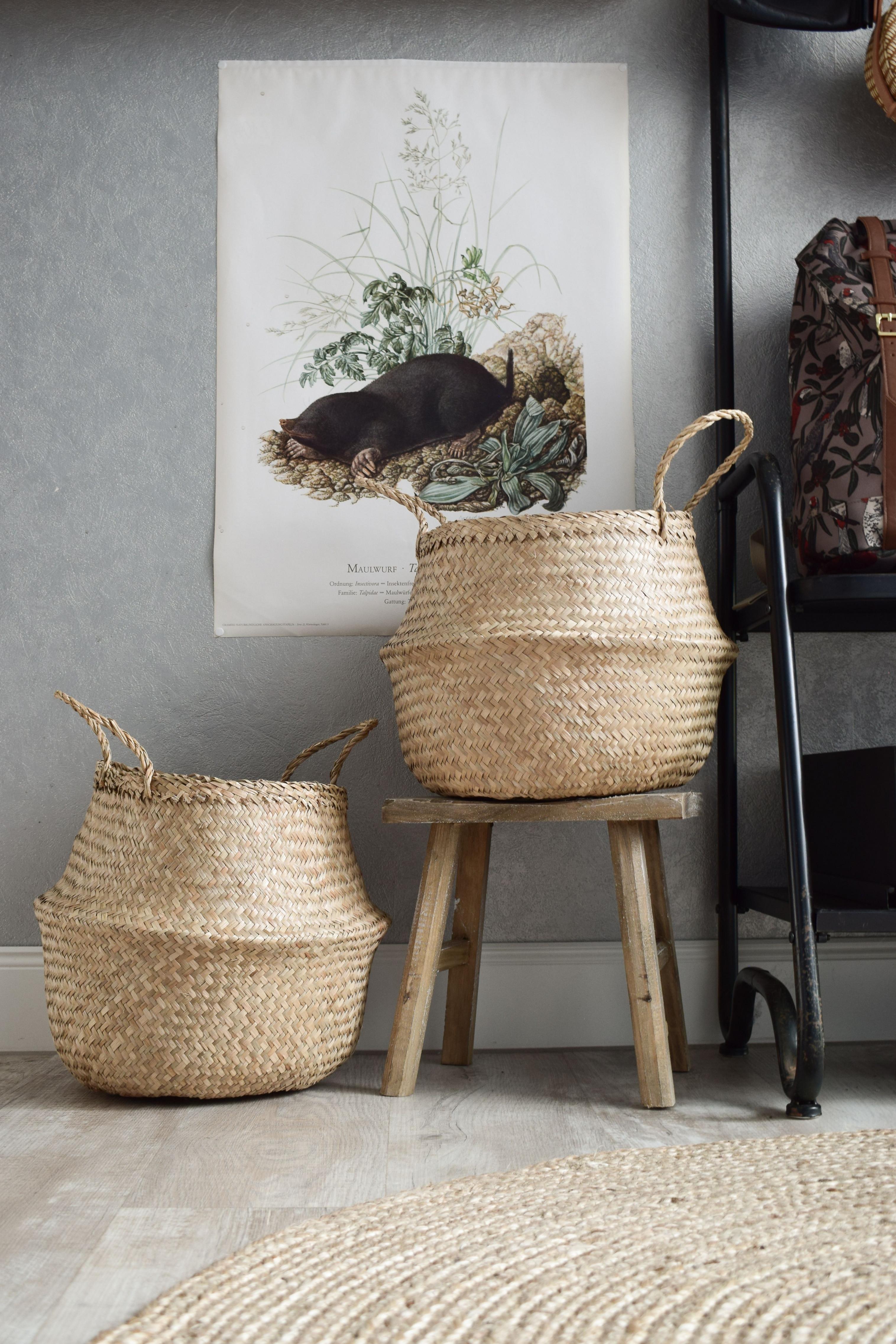 Seegras Korb Natürlich Praktisch  Korb Und Kiste Dekor von Korb Deko Wohnzimmer Bild