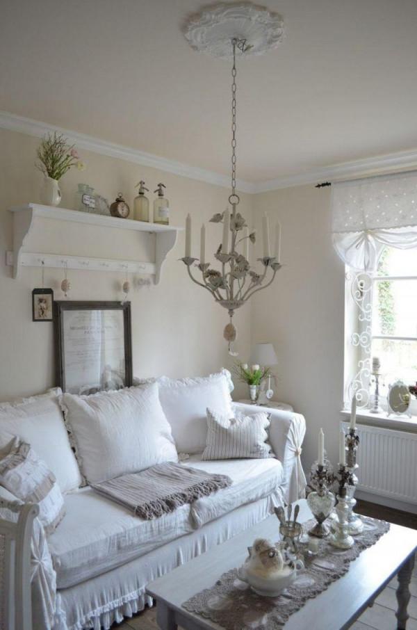 Shabby Chic Im Wohnzimmer – 55 Vintage Möbel Und Deko Ideen von Vintage Deko Ideen Wohnzimmer Bild