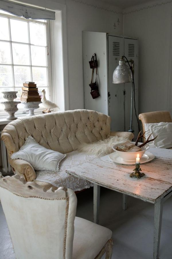Shabby Chic Im Wohnzimmer – 55 Vintage Möbel Und Deko Ideen von Vintage Deko Wohnzimmer Bild