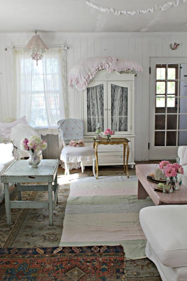 Shabby Chic Im Wohnzimmer – 55 Vintage Möbel Und Deko Ideen von Wohnzimmer Deko Vintage Bild