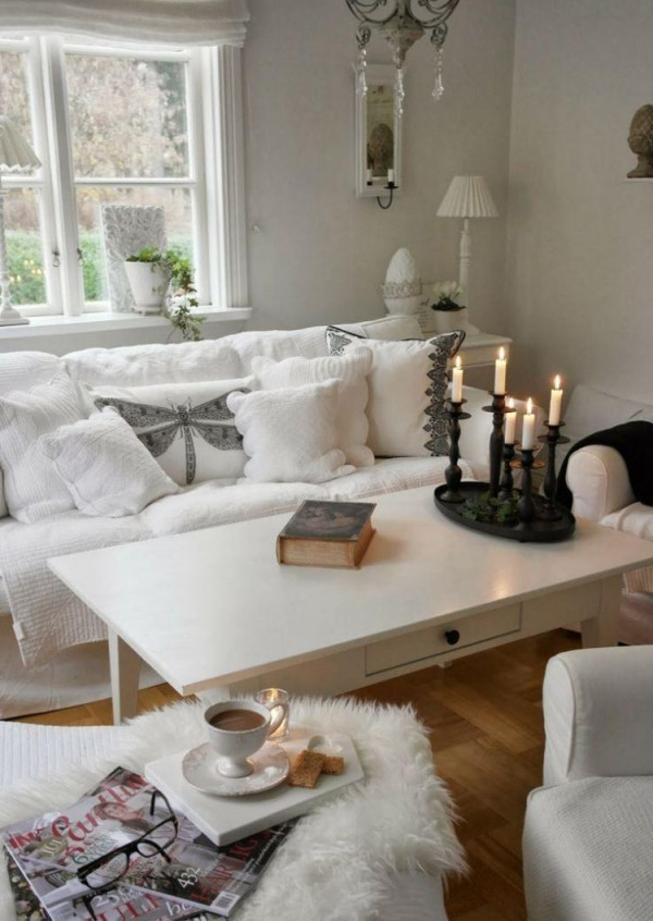 Shabby Chic Im Wohnzimmer – 55 Vintage Möbel Und Deko Ideen von Wohnzimmer Deko Vintage Photo